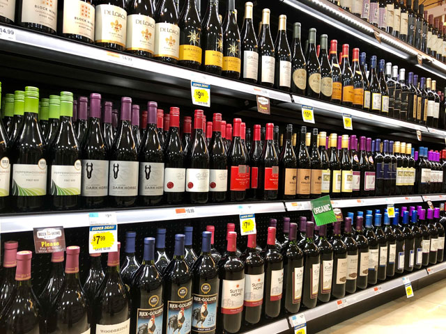 Wine On Shelf